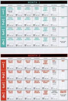 exercise schedule maker