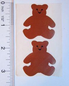 Vintage 70s 80s Medium Teddy Bears Mrs Grossman's Stickers