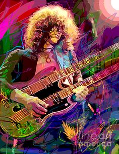 Jimmy Page in Pop Art by David Lloyd Glover