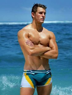 luv showing off and getting off in speedos.