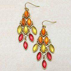 Faceted Drop Crystal Chandelier Earrings