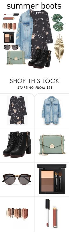 """""""Summer Boots"""" by alinamurs ❤ liked on Polyvore featuring MANGO, LE3NO, Jennifer Lopez, Illesteva, MAC Cosmetics, tarte and Chanel"""