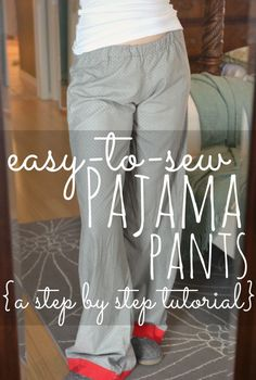 This simple step-by-step tutorial shows you exactly what to do to make cute PJ pants in any size without a pattern in about an hour. A perfect project for beginning sewers!