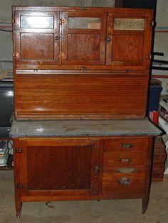 OAK-Hoosier-Style-McDougall-Kitchen-Cabinet-with-Flour-Bin-and ...