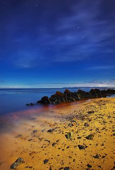 Moonlit Beach by Stewart Watt, via Flickr