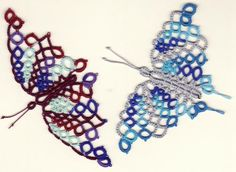 AnnieB Seahorse Dragonwing - turned to Butterfly Modified and tatted By MercyPres. Posted on InTatters.