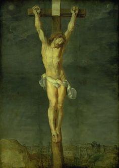 Christ on the Cross / Cristo en la Cruz // 1592-1633 // Peter Paul Rubens (tilskrevet) & Joos de II Momper (stil) // Statens Museum for Kunst, Copenhagen