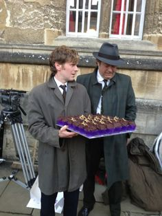 Happy Cakes in Oxford stops by the Endeavour set on 9/20/13 . http://www.happy-cakes.co.uk/cupcakes-encounter-with-endeavour-stars-shaun-evans-roger-allam/#.UjyNToZ6a4F