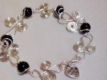 wire black pearl - bracciale