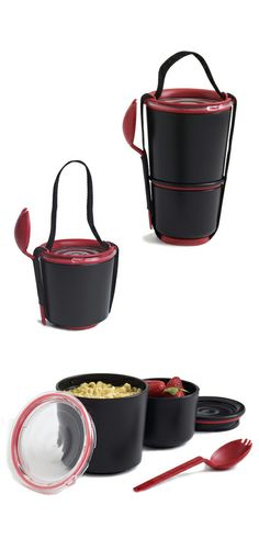 Stacking lunch pot // clever!