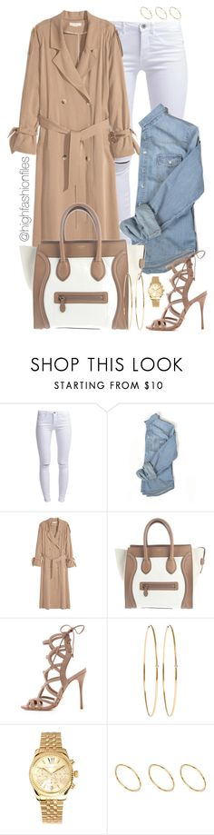 """Suburbia"" by highfashionfiles ❤ liked on Polyvore featuring ONLY, CÉLINE, Schutz, Jennifer Meyer Jewelry, Michael Kors and ASOS"