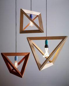 Geometric wooden Lightframe by Herr Mandel