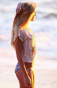 Un día en la playa.