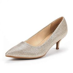 8459fc7aef9f DREAM PAIRS Women s Moda Gold Glitter Low Heel D Orsay Pointed Toe Pump  Shoes Size 8 M US
