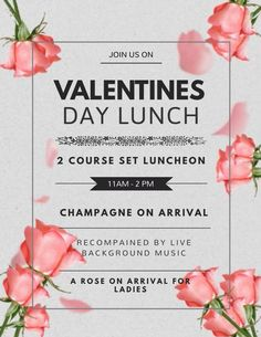 Valentines day social media poster flyer graphic design template idea