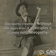 Classical osteopathy means original  true to the roots  and the roots of osteopathy are based in principles. Osteopathic treatment without the application of principles it is simply not osteopathy. Its just manual technique for different parts of the body and cant be distinguished from any other form of manual therapy. Don't fall for imitation courses and 'osteopathic techniques' Trust the Canadian Academy of Osteopathy to provide proper continuing education. Look out for details about our…