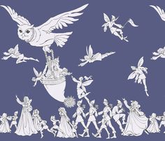 P L Trooping Fairies fabric by ceanirminger on Spoonflower - custom fabric