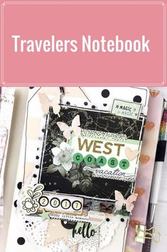 Vintage Floral Travelers Notebook by Simple Stories Notebook Organization, Planner Tips, Vacation Planner, Simple Stories, Travel Journals, Art Journals, Travelers Notebook, Mini Books, Vintage Floral