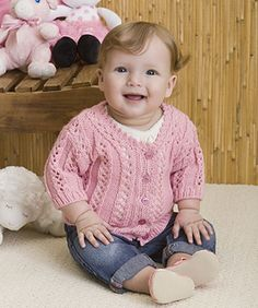 Whether baby is going to town, to a party or just playing in the yard, this is the perfect knit sweater.