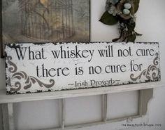 IRISH PROVERB BAR Sign Shabby Cottage Tavern by thebackporchshoppe, $49.95