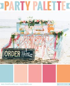 Party Palette: Ice cream social beach party #colorpalette