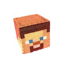 Minecraft perler bead Steve Money Box  by by Regalopia Freak Creations - www.etsy.com/Shop/FreakCreations