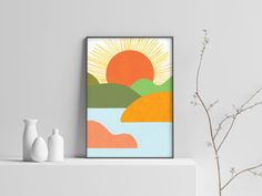 Excited to share the latest addition to my #etsy shop: Landscape Print, Sunset Print, Sunset Poster, Sunset Wall Art, Gift for Mom, Home Decor, Instant Digital Download, Downloadable Prints #art #print #digital #bedroom #landscapescenery #landscape #vertical #digitalwallart #landscapepainting Landscape Prints, Landscape Paintings, Sunset Art, Home Printers, Beautiful Landscapes, Printable Wall Art, Gifts For Mom, Digital Prints, Art Print