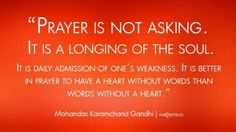 In prayer to have a heart
