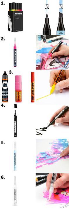 Mais informações e filmes sobre o uso das canetas da MOLOTW nos links em baixo.  http://www.junkz.com.br/molotow-one4all/ http://www.junkz.com.br/molotow-one4all-canetas-e-refill/ http://www.junkz.com.br/molotow-grafx-aqua-ink-pump-softliner/ http://www.junkz.com.br/molotow-grafx-blender-pump-softliner/ http://www.junkz.com.br/molotow-grafx-art-masking-liquid-pump-marker/  http://issuu.com/molotow/docs/molotow_solutions_and_innovations_2_e319e8145d4ae3/1?e=0/5412512  www.junkz.com.br