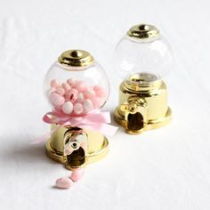 Mini Metallic Gumball Machine Favor
