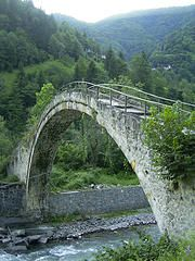 Old stone bridge crossing Firtina River (ogomogo) bridge turkey.  http://exploretraveler.com/ http://exploretraveler.net