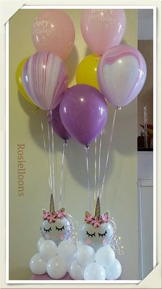 Unicorn baloons for birthday party Party Unicorn, Unicorn Balloon, Unicorn Themed Birthday, Unicorn Baby Shower, First Birthday Parties, Birthday Party Themes, First Birthdays, Birthday Ideas, 5th Birthday