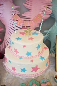 Project Nursery - Twinkle Twinkle Little Star 1st Birthday Cake