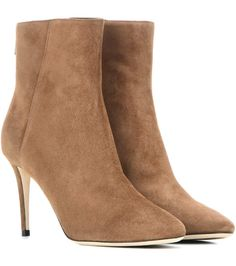 JIMMY CHOO Duke 85 Suede Ankle Boots. #jimmychoo #shoes #boots