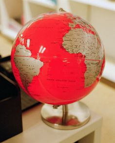 pink and gold Globe Art, Map Globe, Vintage Globe, Vintage Maps, World Globes, We Are The World, Map Art, My Favorite Color, Compass