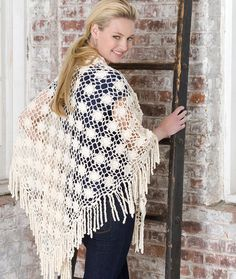 Year 'Round Shawl Crochet Pattern | Red Heart ~ the original is a lot prettier than the one shown here