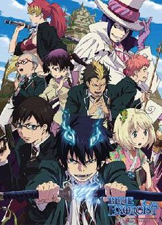 Blue Exorcist Rue Cross Academy Wall Scroll Licensed *FREE SHIPPING*