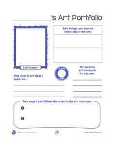The Perfect Portfolio Cover Sheets for Your K-8 Students - The Art of Ed
