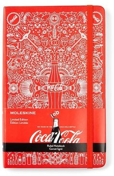 Moleskine Limited Edition Coca-Cola Ruled Notebook - this has a really pretty cover design, check it out #bulletjournal #cocacola #limitededition #affiliate