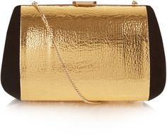 Shop Now - >  https://api.shopstyle.com/action/apiVisitRetailer?id=504961576&pid=uid6996-25233114-59 NINA RICCI Merion suede and leather clutch bag  ...