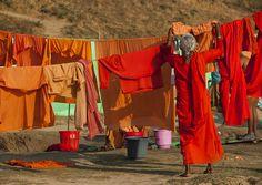 Woman Washing Clothes, Maha Kumbh Mela, Allahabad, India by Eric Lafforgue on Flickr