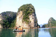 Boat ride in Vietnam Halong Bay Visit Vietnam, Vietnam Travel, Cruise, Scenery, Boat, Water, Outdoor, Beautiful, Grey