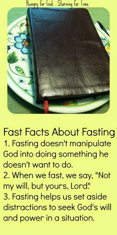 Fasting is a way to get serious with God about what's weighing heaviest on  our hearts. But it's often misunderstood or misused.