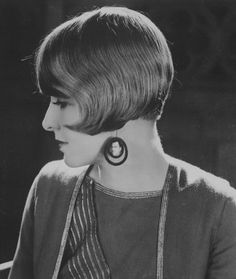 Bobbed Hair- short, angled haircut just above the cheek bone that mirrored that of men's haircuts.