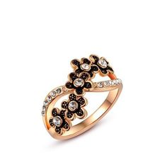 CHICUU - CHICUU Roxi Vintage Classic Gold Plated Ring - AdoreWe.com
