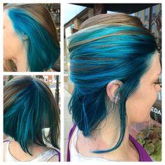 Beautiful blues. Hair by Kristin