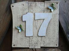 Hausnummern - Hausnummer - ein Designerstück von Atelier-Keramixx bei DaWanda