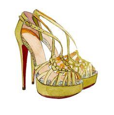 Christian Louboutin 8 Mignon Sandals by LadyGatsbyLuxePaper, $10.00