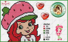 Ângela Bordados: Strawberry Shortcake and all her friends