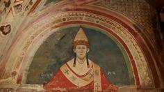 Subiaco Sacro Speco; chiesa inferiore; affresco raffigurante Innocenzo III.